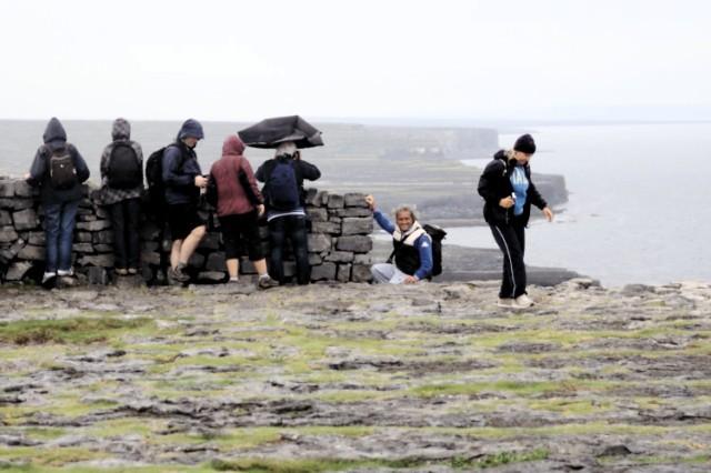 At Dún Aonghasa, Inis Mór, Aran Islands.
