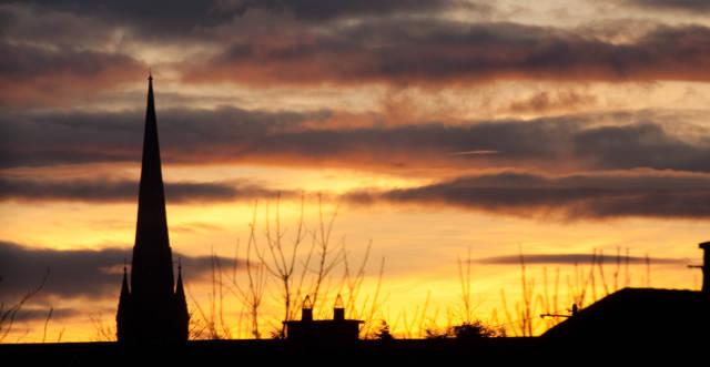 Irish winter horizon