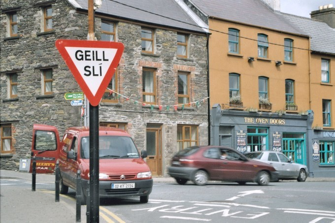 It's unclear whether Gaeltacht (Irish-speaking) areas in the west of Ireland will need to be dismantled following Ireland's English-only policies.