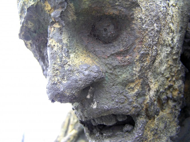 The Great Famine memorial, on Dublin's docks. It's been reportedly said that modern Ireland