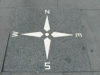 Compass Rose at the corner of Powell and O'Farrell, San Francisco, CA: : http://www.flickr.com/photos/ecastro/354578085/