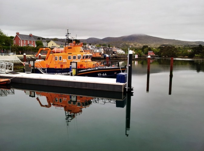 Sea rescue boat, stationed in Castletownbere, Ireland.