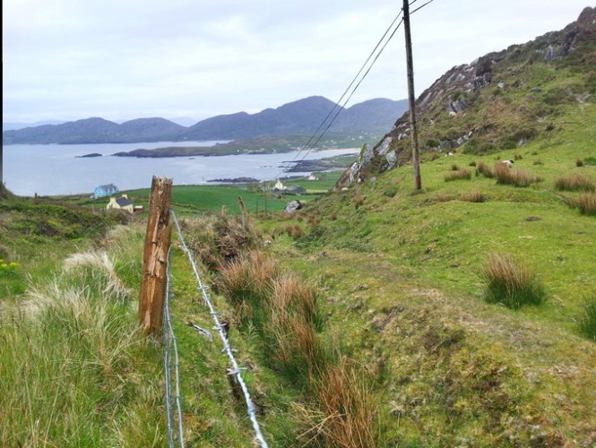 View during our driving in County Kerry. This was a beautiful calm summer's day, but I wouldn't like to be out here in mid winter.