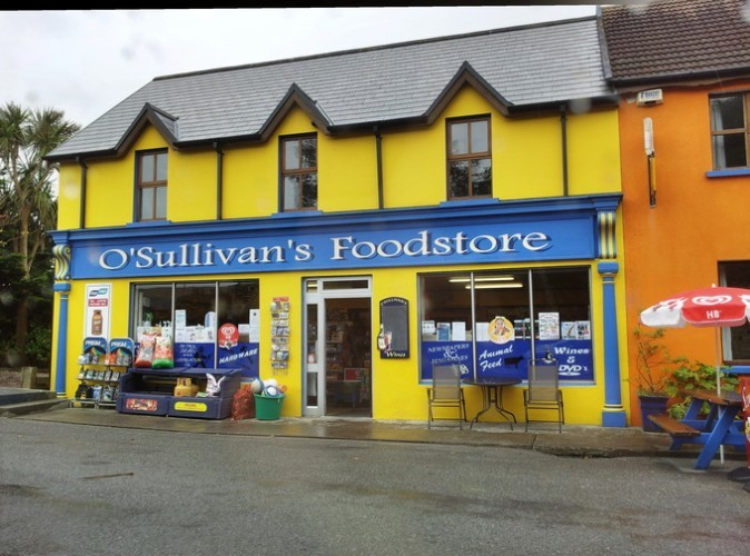 A colourful shop on Béara peninsula, County Kerry, Ireland.