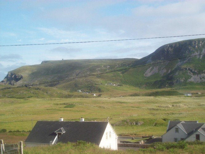 The view from the front windows of the cottage I stayed in during my first week in Glencolmcille. 2013, by Audrey Nickel