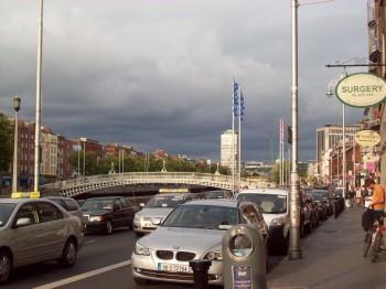 Ha'Penny Bridge, Dublin, Ireland.