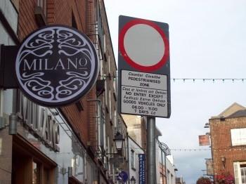 Irish sign near Grafton Street.