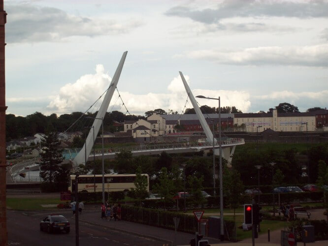 The Peace Bridge: A Sign of Derry's hopeful future. 2013, by Audrey Nickel