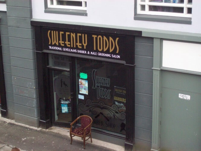 Sweeny Todd's, just inside the Derry wall.