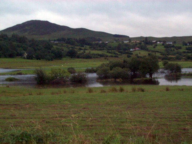 The Reelin River in Co. Donegal, backed up after a heavy rain.