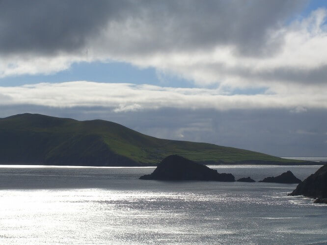 Sunshine changing in County Kerry Ireland