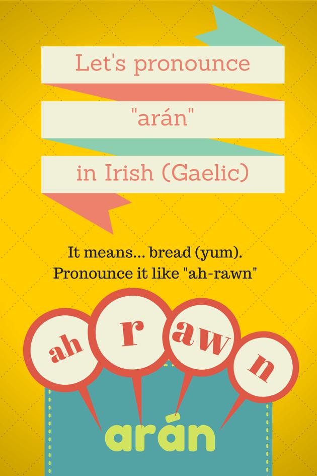 "Pronounce ""arán"" in Irish Gaelic"